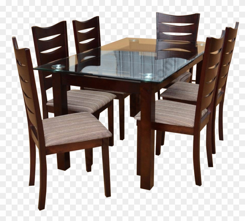 Dining Table Wooden Dining Table Design With Glass Top Hd Png Download 936x833 5695753 Pngfind