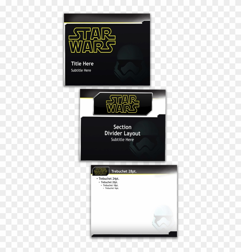 We Also Created This Star Wars Themed Template Back - Star