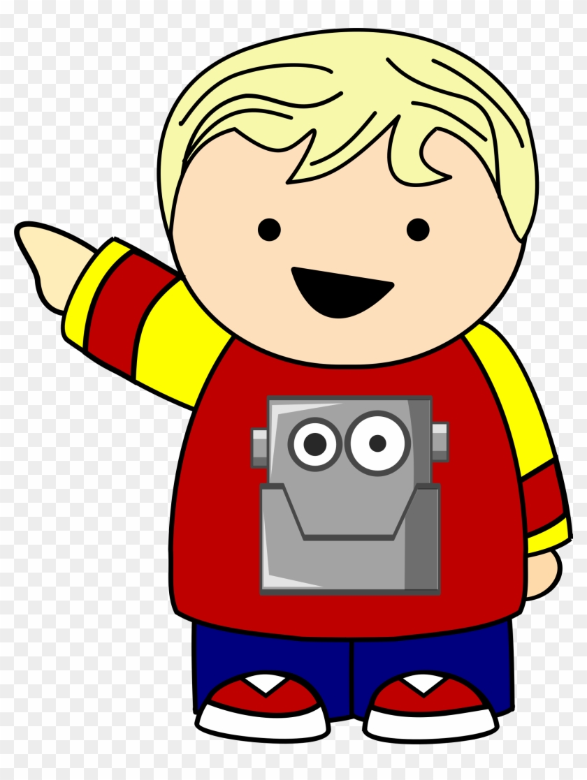 This Free Icons Png Design Of Pointing Kid In Robot Cartoon Kid Pointing Transparent Png 1845x2367 5707964 Pngfind