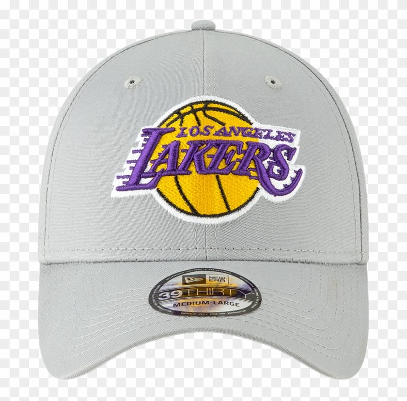 reputable site f814c c434d La Lakers New Era 3930 Nba Team Stretch Fit Grey Cap - Logos ...
