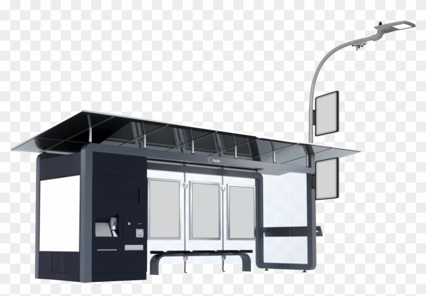 Solar Smart Bus Stop Design Hd Png Download 1336x897