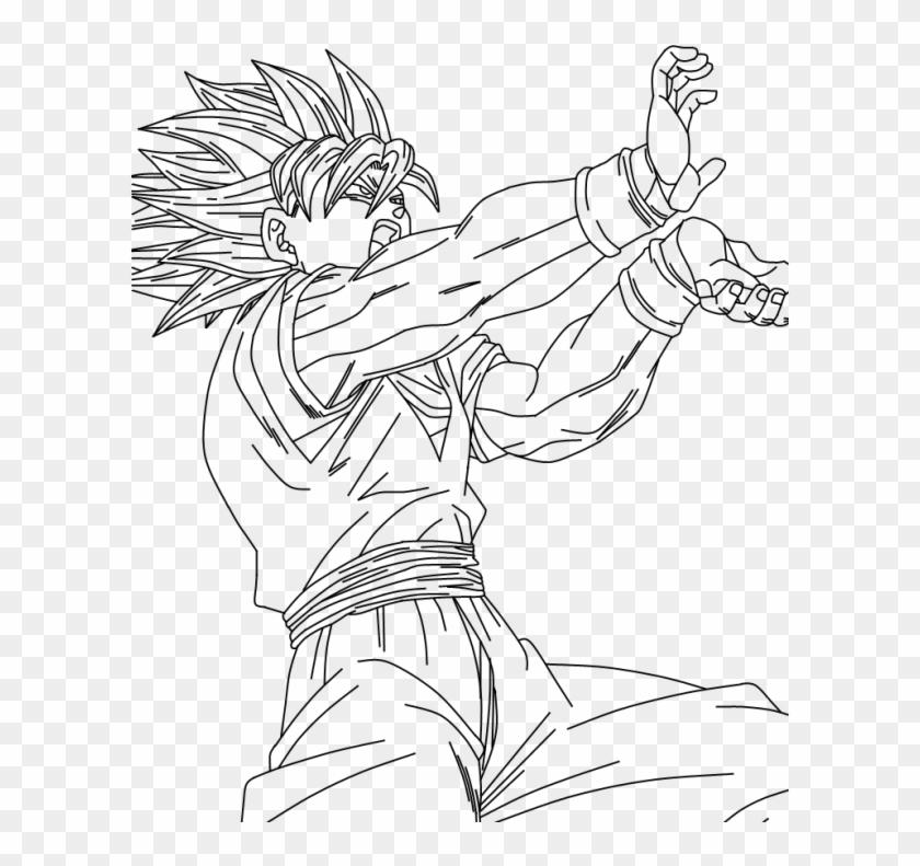 Posición De Goku Lineart Vegeta And Goku Hd Png Download