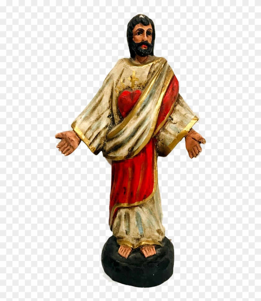 Religious Figurine Sacred Heart Of Jesus Wooden Piece Figurine Hd