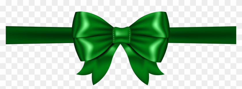 Clipart Bow Green - Green Bow Transparent Background, HD Png