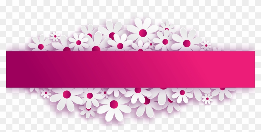 Pink Flower Powerpoint Template Hd Png Download 1920x884 5800133 Pngfind