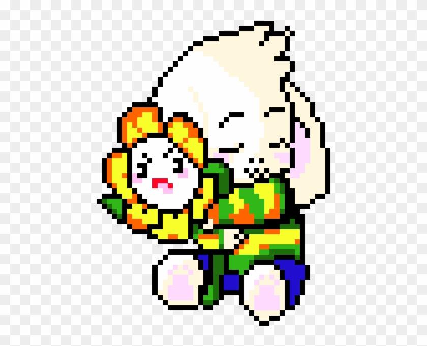 Asriel And Flowey Pixel Art Undertale Asriel Hd Png Download 560x670 5804556 Pngfind