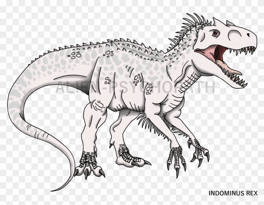 Jurassic World Indominus Rex Coloring Pages Indominus Rex Jurassic World Colouring Pages Hd Png Download 979x719 5805283 Pngfind