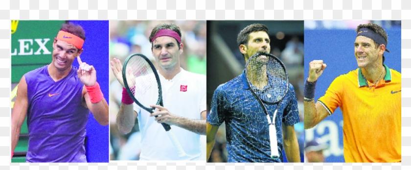 Rafael Nadal Roger Federer Novak Djokovic Y Juan Racketlon Hd Png Download 960x540 5831585 Pngfind