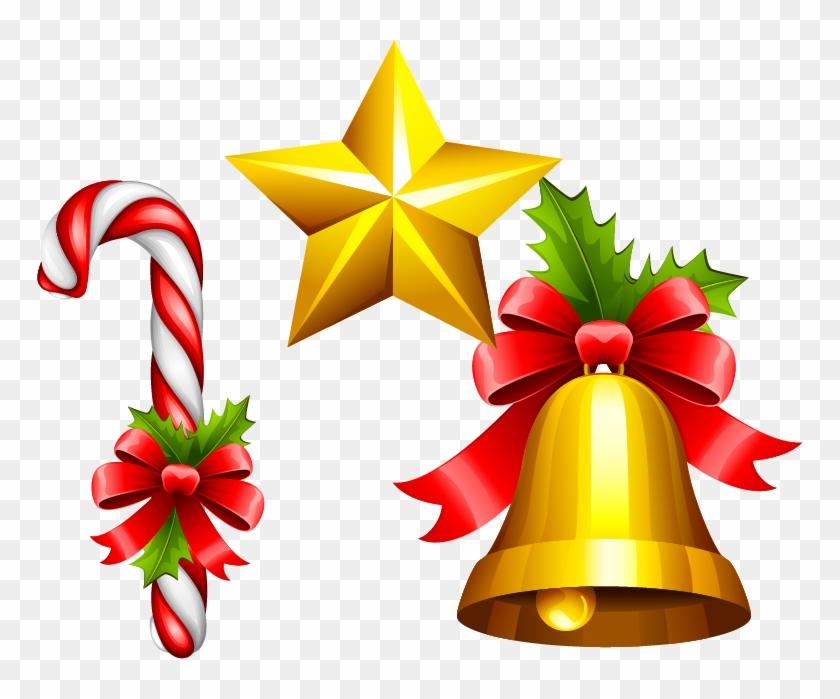 Christmas Bells Clipart.Star Bell Material Vector Jingle Christmas Bells