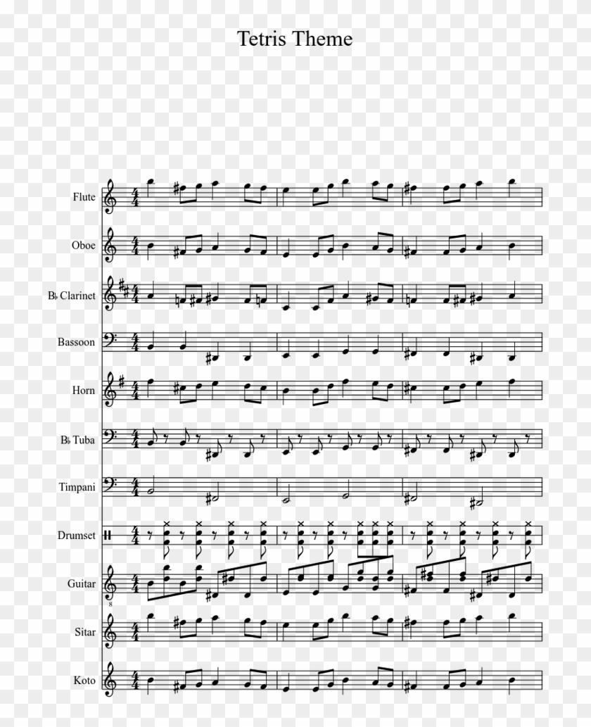 Tetris Theme A - Semper Paratus Sheet Music Trumpet, HD Png