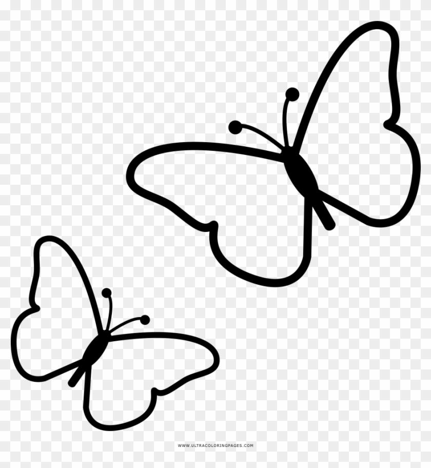 Butterflies Coloring Page Borboletas Desenho Para Colorir Hd
