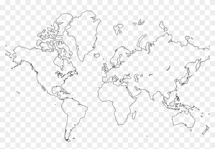 photo relating to Printable Labeled World Map referred to as Printable Basic International Map, High definition Png Down load - 800x533