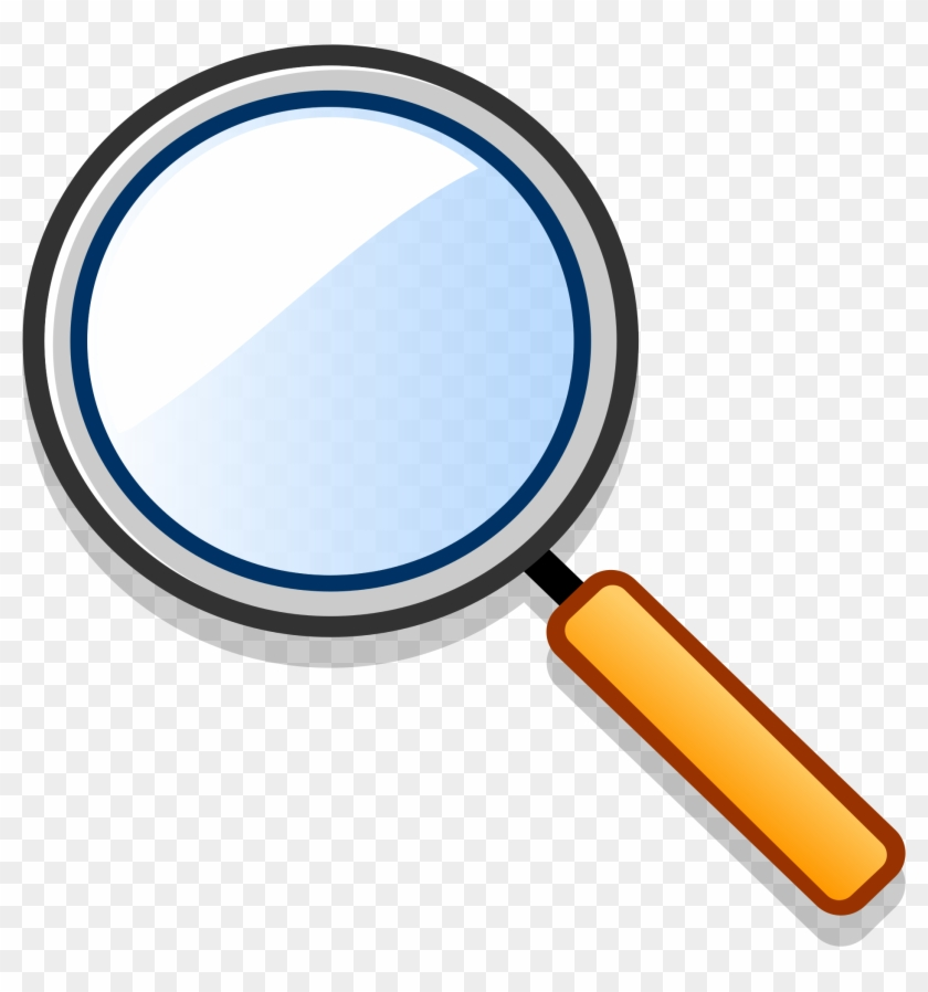 Magnifying glass translucent PNG Image.