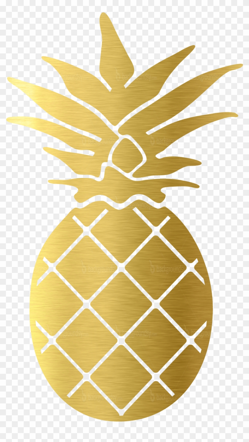 Pineapple glitter. Gold png clipart transparent