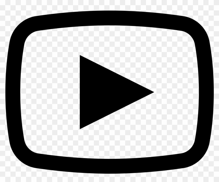 Youtube1600 - Youtube Icon Black And White, HD Png Download