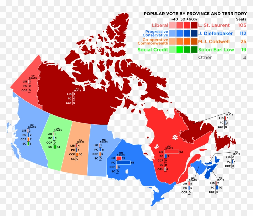 Canada Hd Map Making Maps Guidelines   Political Party Map Of Canada, HD Png
