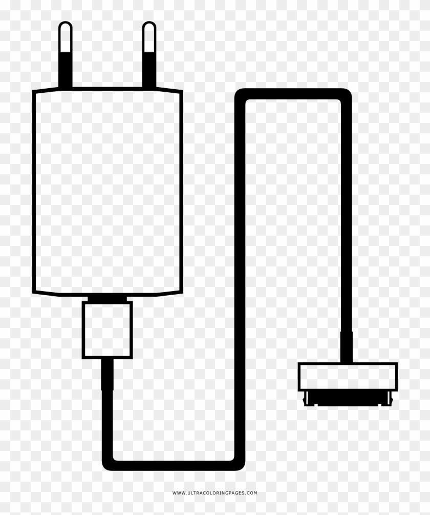 Iphone Charger Coloring Page Cargador De Celular Para