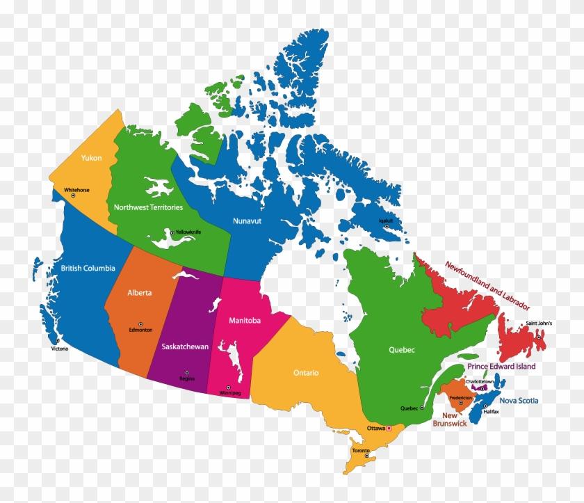 Canada Map Hd Canada   Canada Provincial Capitals Map, HD Png Download   900x648