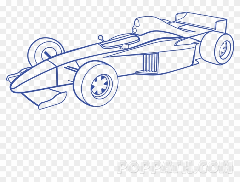Charming Formula 1 Car Outline Race Cars Drawing At Draw Formula 1 Car Hd Png Download 1000x1000 5909107 Pngfind