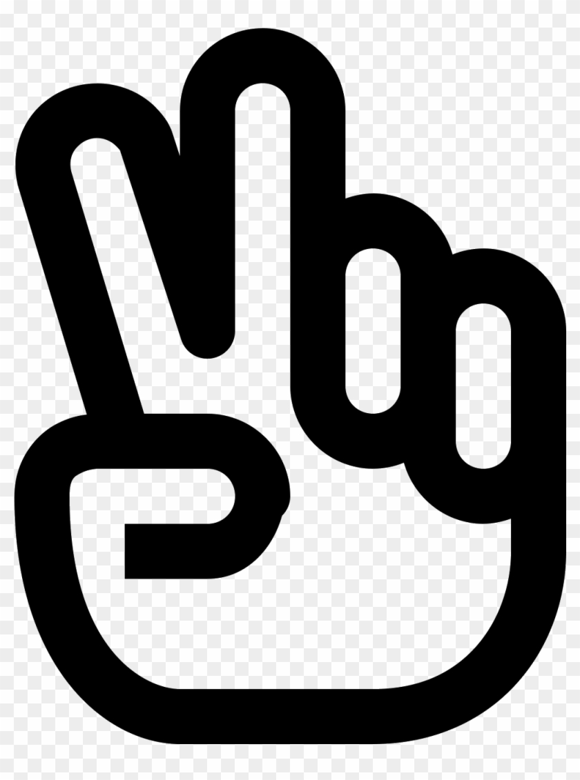 Hand Icon Download Png And Vector - Peace Sign Hand Icon