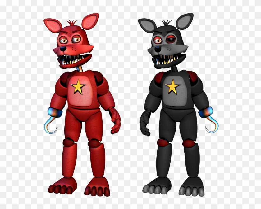 A Lefty Version Of Rockstar Foxy And Rockstar Foxy - Fnaf 6
