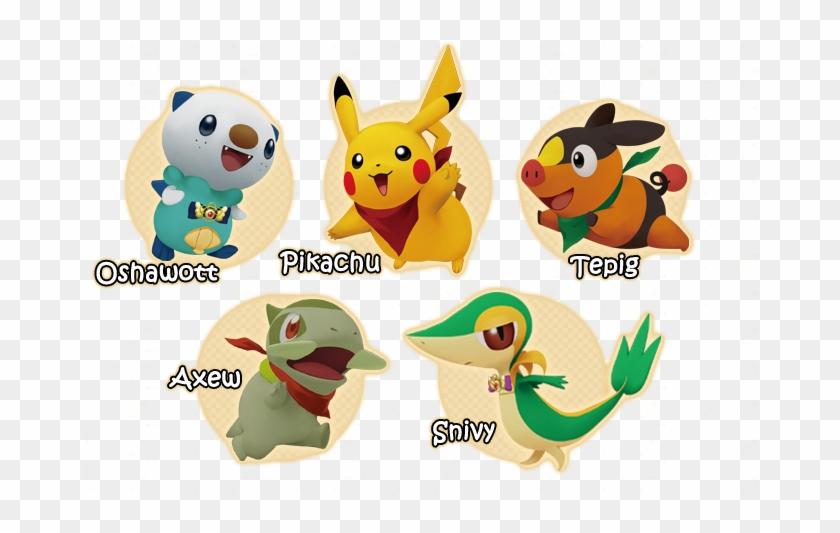 Pokemon Snivy Tepig Oshawott Pikachu