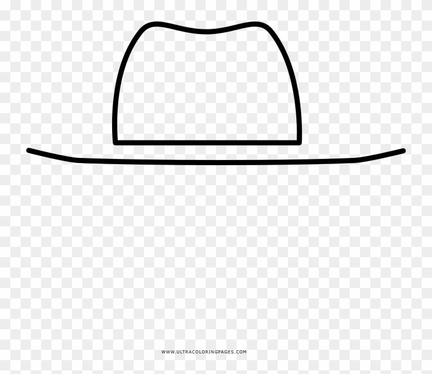Sombrero De Vaquero Página Para Colorear Line Art Hd Png