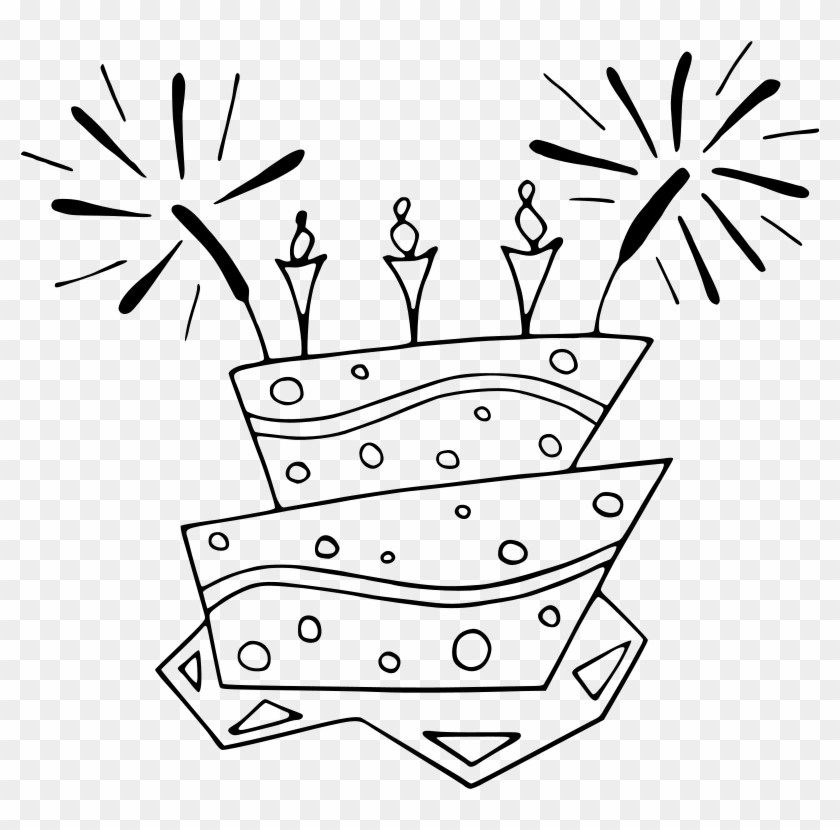 Coloring Book, Free Printable Kids Coloring Pictures, - Birthday Cake Clip  Art, HD Png Download - 800x750(#5992061) - PngFind