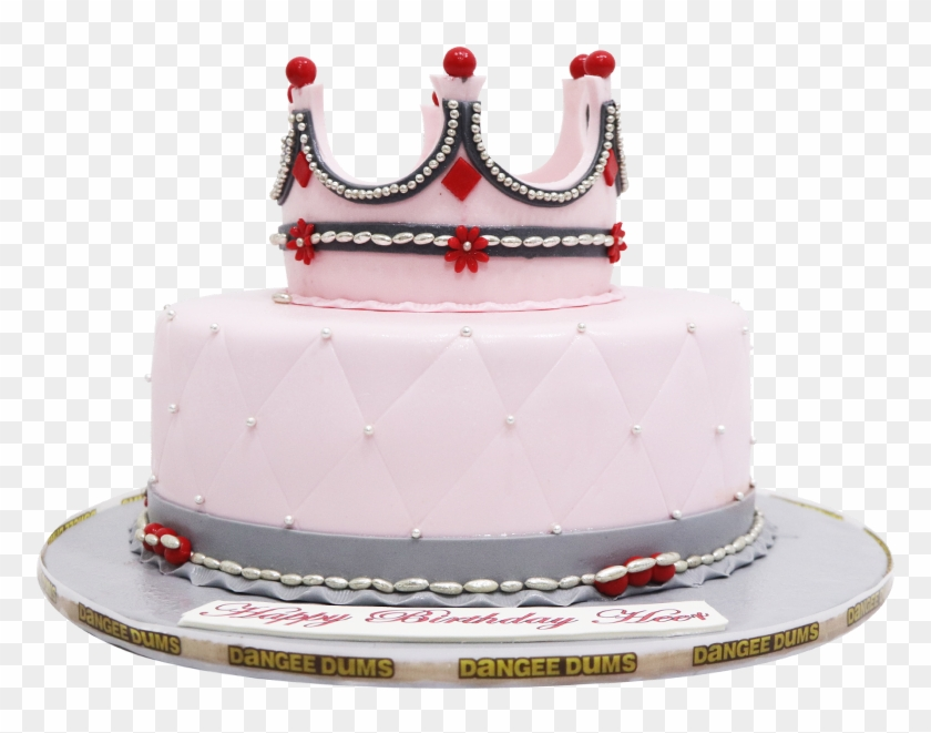 Marvelous Pink Girl Crown Cake Birthday Cake Hd Png Download 1000X700 Funny Birthday Cards Online Overcheapnameinfo