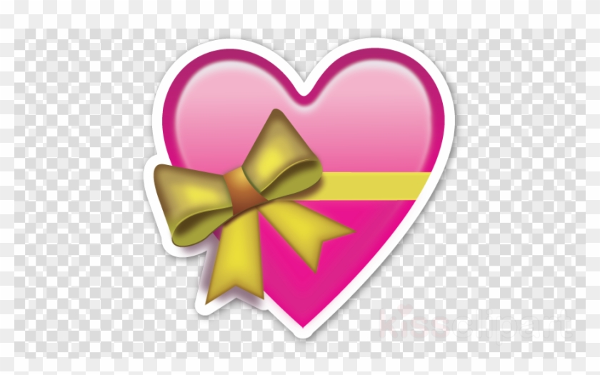 Emoji heart. Ribbon flower love clipart