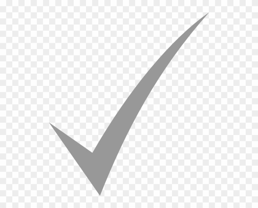Check mark white. Gray clip art icon