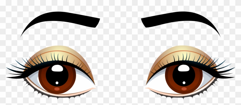 Cartoon Eyes And Mouth Free Download Best Cartoon Eyes Brown Eyes Clipart Transparent Hd Png Download 8000x3219