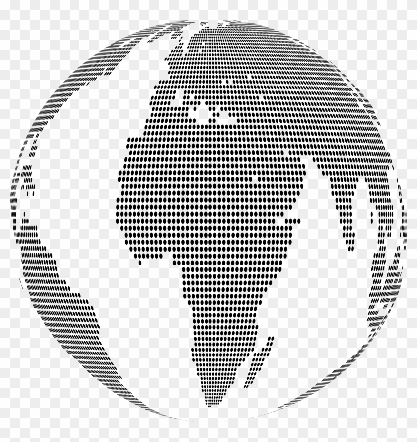 This Free Icons Png Design Of World Map Globe Dots