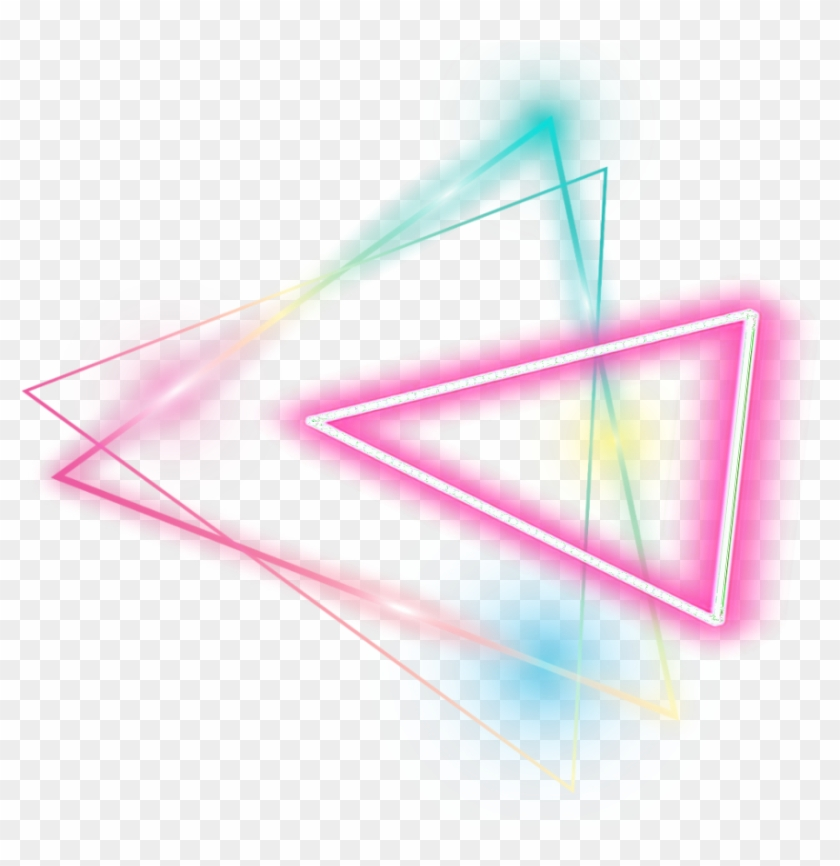 Triangle Sticker Glowing Neon Triangle Png Transparent Png 1024x1024 604286 Pngfind