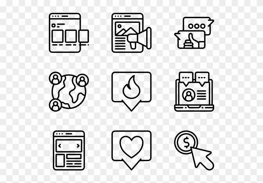 Social Media Icons Clipart Social Marketing Hobbies Icon Png Transparent Png 600x564 605111 Pngfind