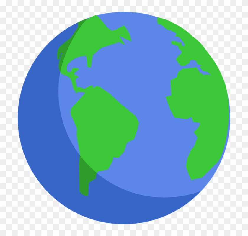Earth transparent background. Png vector clipart