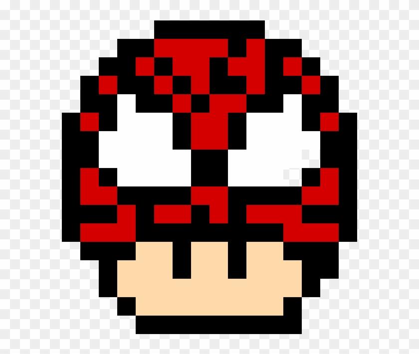 Spider Man Mushroom Pixel Mario Mushroom Hd Png Download