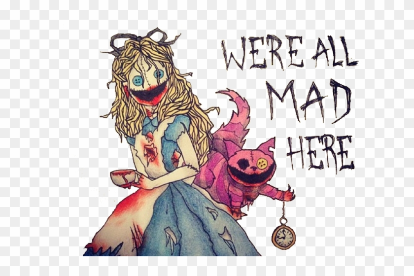 Cheshire Cat Clipart Tumblr Transparent We Re All Mad Here Drawings Hd Png Download 640x480 6084380 Pngfind