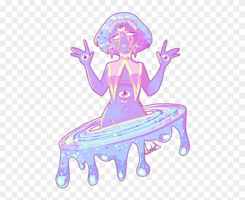 Cute Eyes Kawaii Galaxy Pastel Planet Pixel Art Harajuku