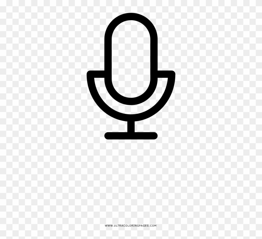 Microphone Icon Coloring Page - Circle, HD Png Download -  1000x1000(#615954) - PngFind