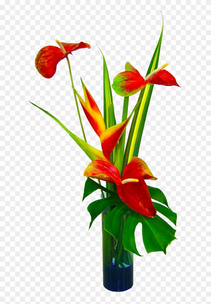 Tropical Silk Flower Arrangements Tropical Flower Arrangement Png Transparent Png 1200x1200 619495 Pngfind