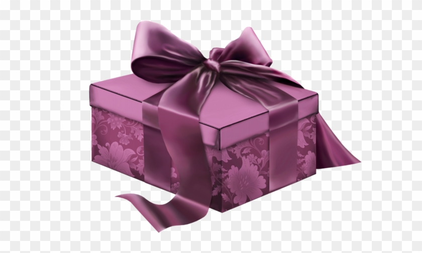 Gift Box Giftbox Purple Ribbon Bow Christmas Purple