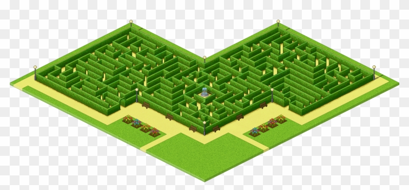 Download Isometric Grid Papers - Maze Pixel Art, HD Png