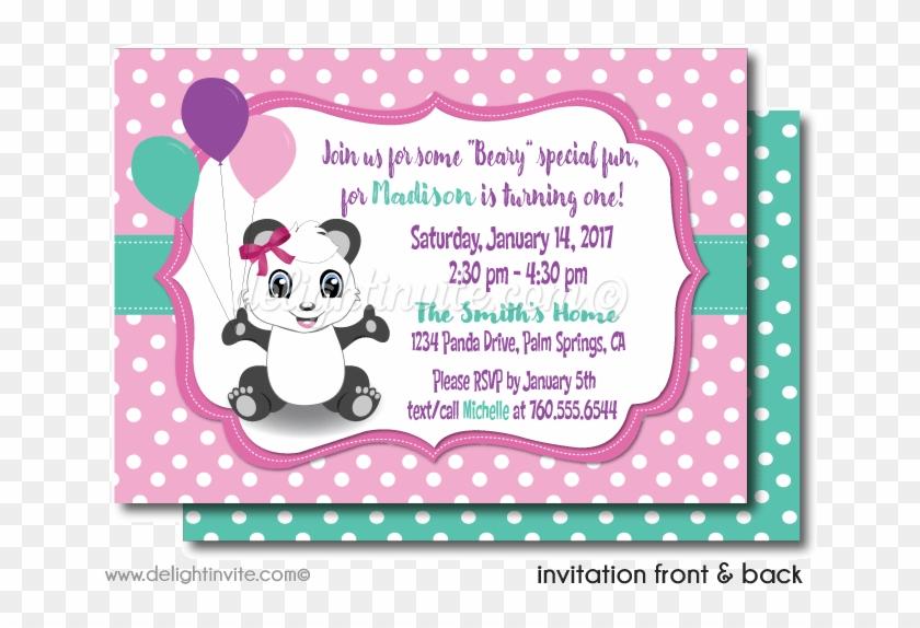 Girl S Panda 1st Birthday Invitations Panda First Birthday