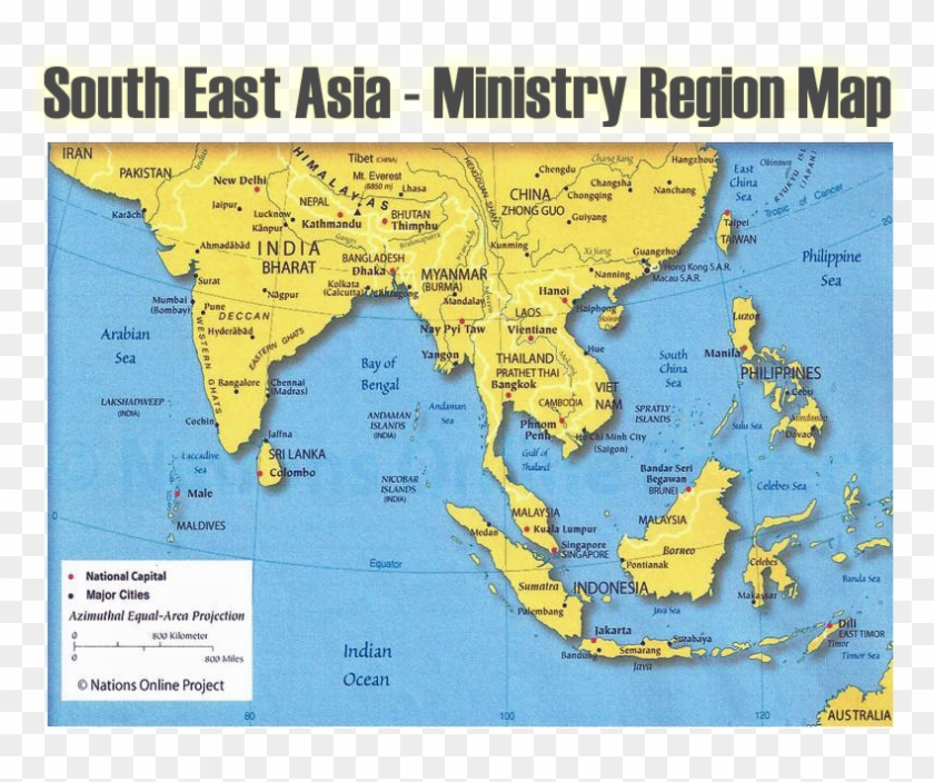 Map Of Asia Full Hd.Se Asia Region Map India And South East Asia Map Hd Png Download