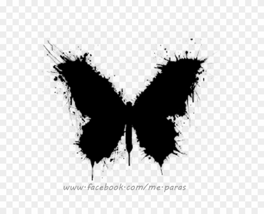 Abstract Black Butterfly Tattoo All Black Butterfly
