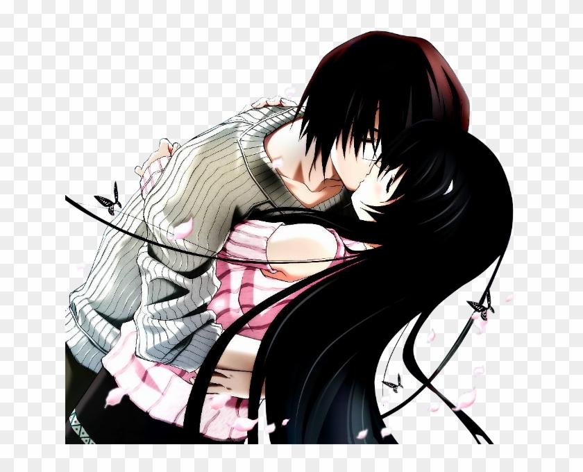 Wallpaper Collection Romantic Love Couple Kissing - Kiss