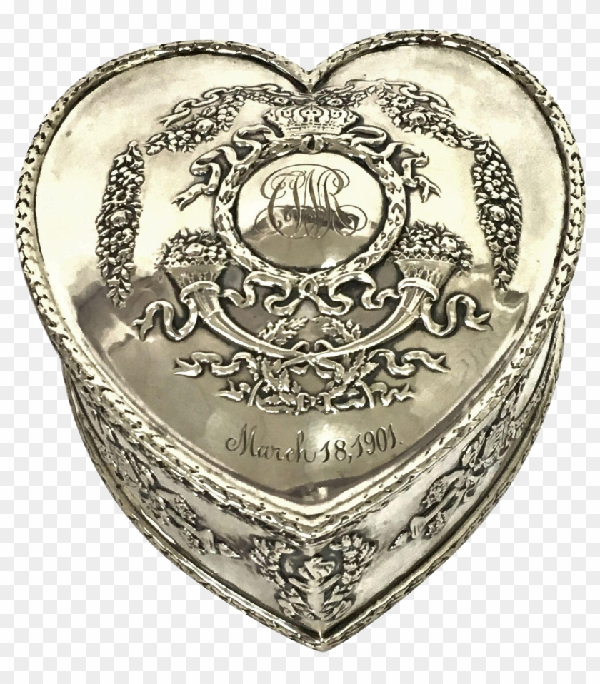474aa02cda981 Antique Bailey, Banks & Biddle Sterling Silver Heart - Illustration ...