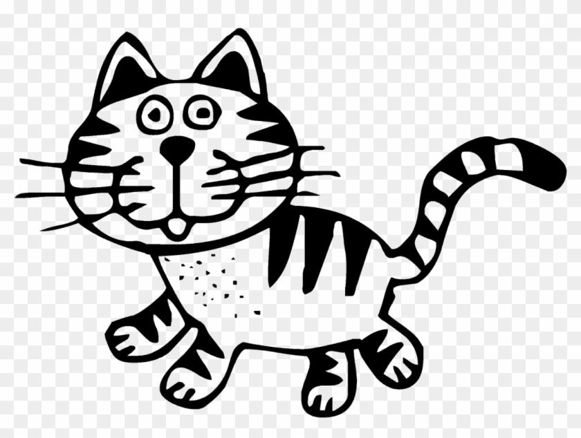 Transparent Art Cat Animal Black White Drawing Gambar Kucing Hitam Putih Hd Png Download 1200x855 620122 Pngfind
