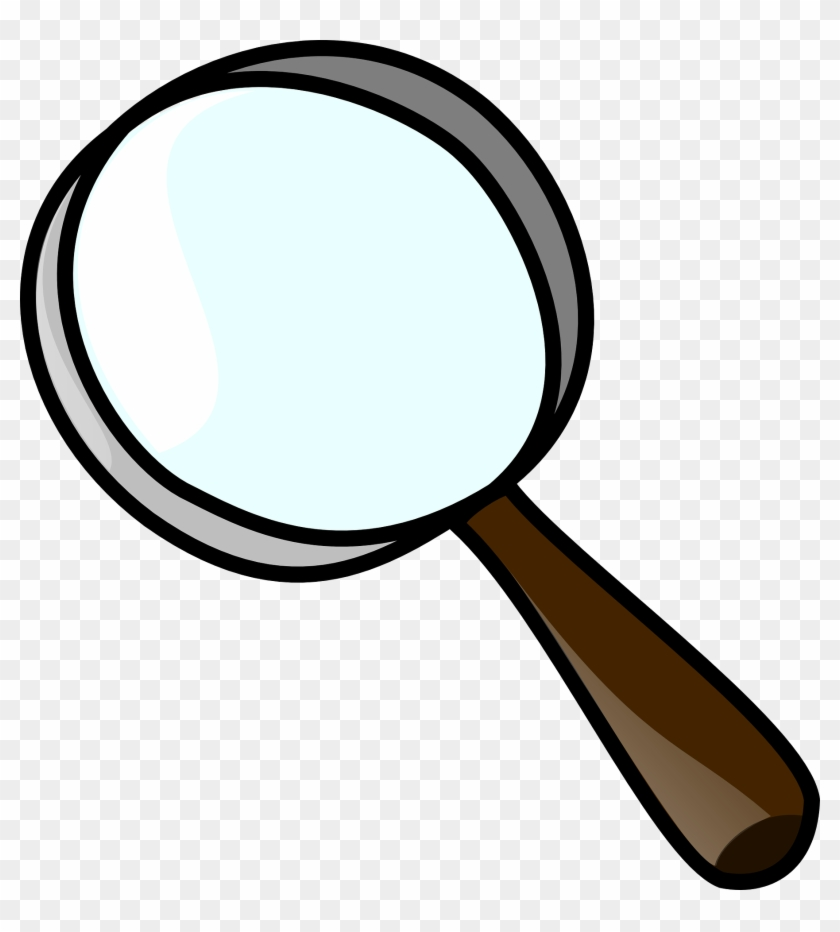 Magnifying glass translucent image.